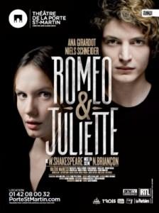 romeo et juliette theatre porte saint martin affiche ana girardot niels schneider