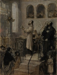 Gottlieb Maurycy Uriel d'Acosta in the Synagogue, 1877 exposition jerusalem musee israel