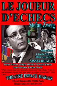 le joueur d'échecs stefan sweig espace marais sissia buggy theatre