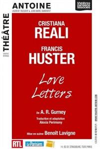 love letters theatre antoine francis huster christiana reali anouk aime gerard depardieu alain delon affiche
