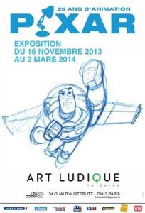 pixar exposition musee art ludique paris affiche