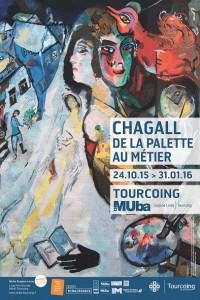 chagall de la palette au metier affiche muba tourcoing lille 3000