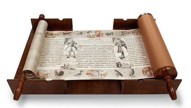 «Le rouleau d'Esther», de la Bibliothèque Gottfried Wilhelm Leibniz de Hanovre