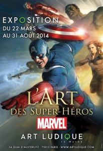 super heros marvel musee art ludique exposition paris captain america hulk avengers x-men thor fantastic four