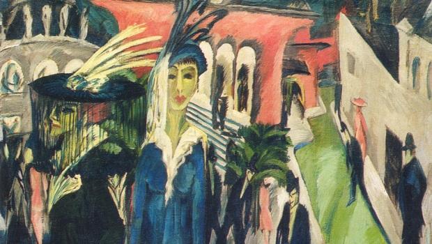 twilight over berlin musee israel art degenere postdam platz kirchner