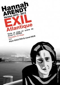 hannah arendt exil atlantique affiche