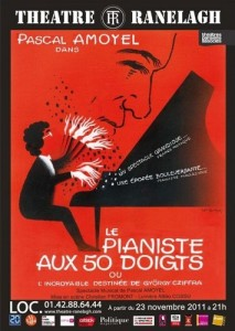 le pianiste aux 50 doigts georges cziffra pascal amoyel theatre ranelagh affiche