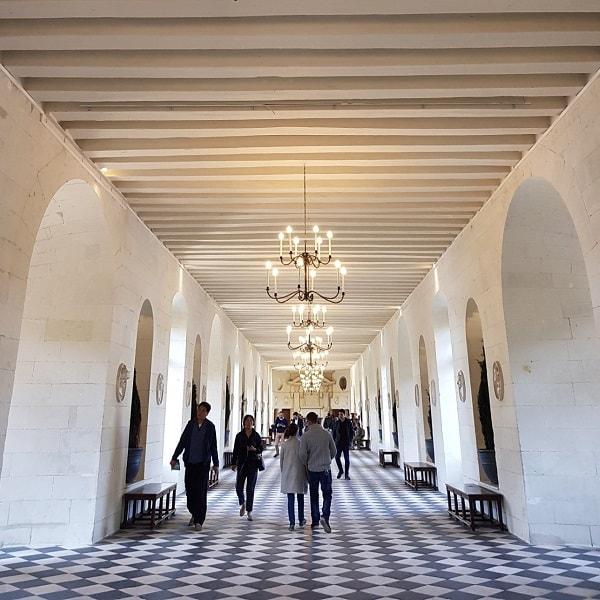 Château de Chenonceau : la galerie des Dômes