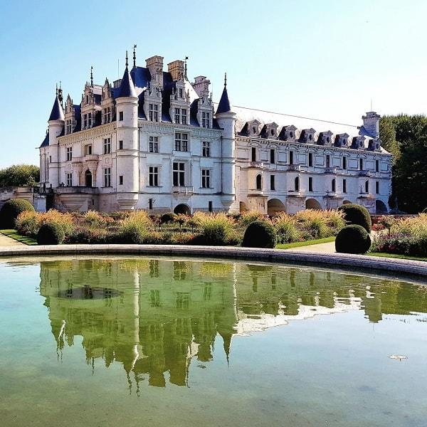 Château de Chenonceau vue depuis le jardin Catherine de Médicis