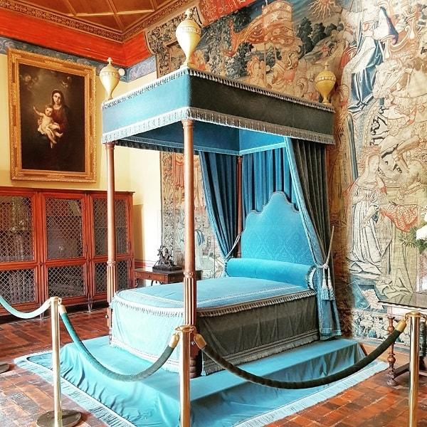 Château de Chenonceau: chambre de Diane de Poitiers