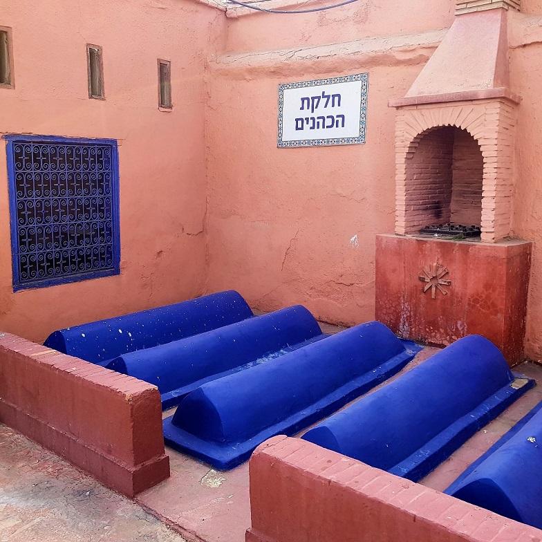 Cimetière Juif de Marrakech, les tombes de Cohanim