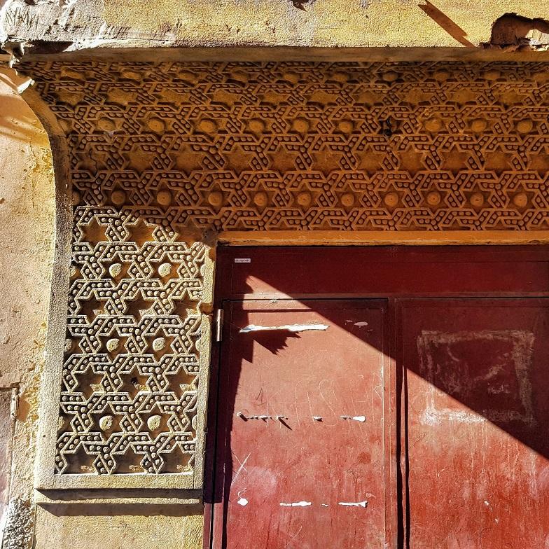 Détail de la façade de la synagogue Joseph Bitton