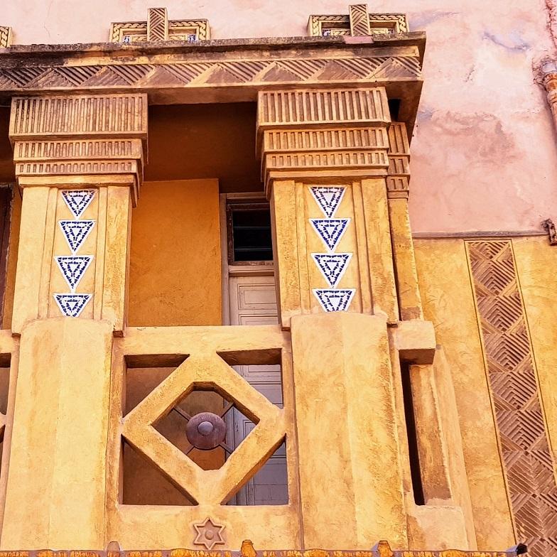 Façade de la synagogue Joseph Bitton