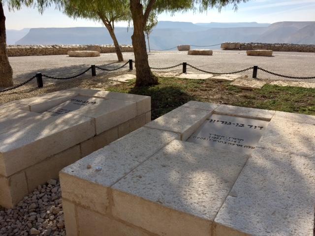 Tombes de Paula et David Ben Gourion à Sdé Boker