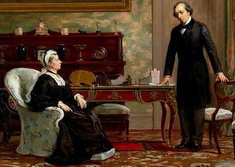 Benjamin Disraeli et la reine Victoria.